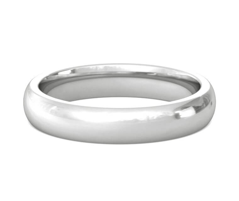 Palladium Heavy, Domed, Comfort Fit Ring - 4mm