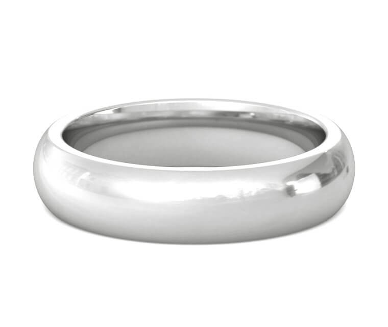 Palladium Heavy, Domed, Comfort Fit Ring - 5mm