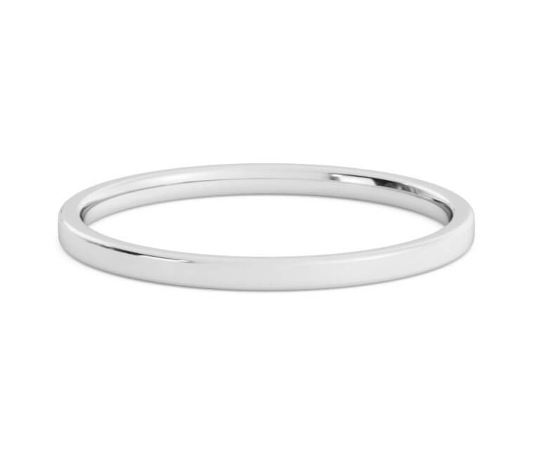 Platinum Flat, Comfort Fit Ring - 1.5mm