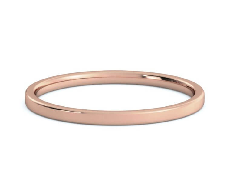 10K Rose Gold Flat, Comfort Fit Ring - 1.5mm