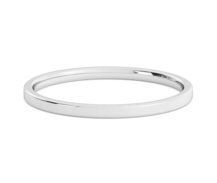 Silver Flat, Comfort Fit Ring - 1.5mm