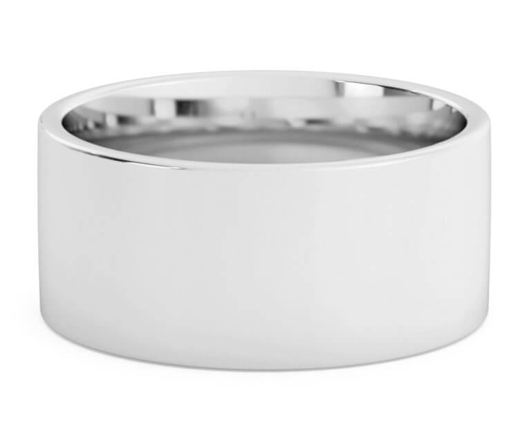 Silver Flat, Comfort Fit Ring - 10mm