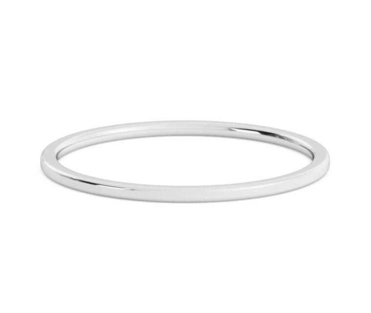 Silver Flat, Comfort Fit Ring - 1mm