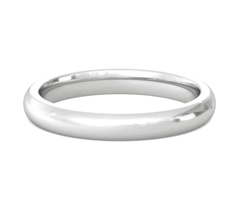 Silver Heavy, Domed, Comfort Fit Ring - 3mm