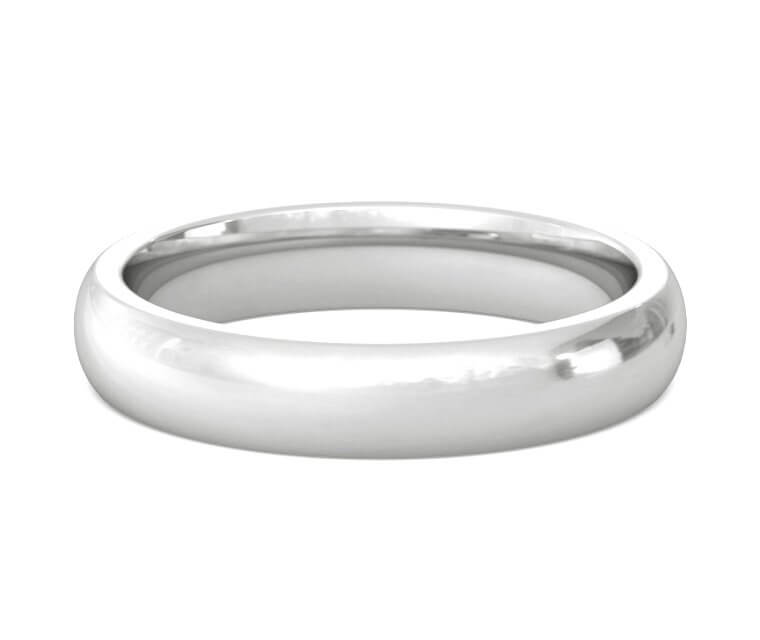 Silver Heavy, Domed, Comfort Fit Ring - 4mm