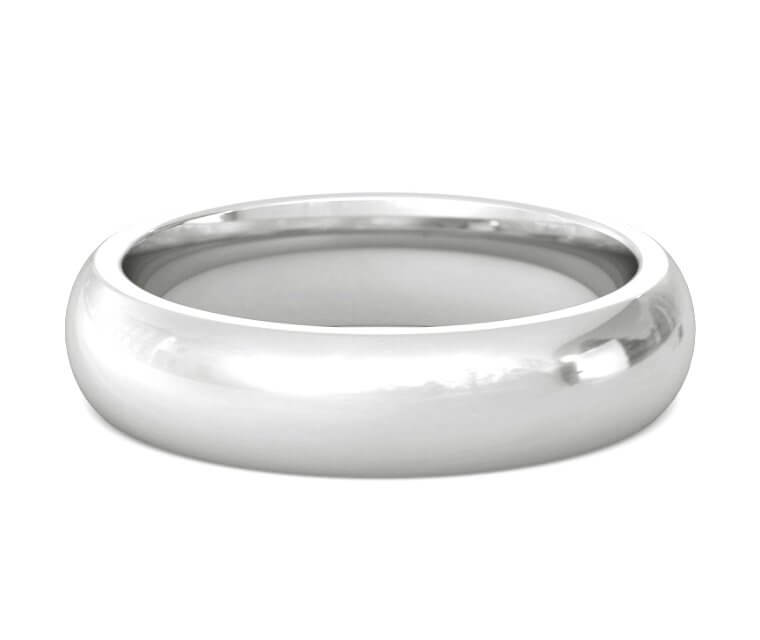 Silver Heavy, Domed, Comfort Fit Ring - 5mm