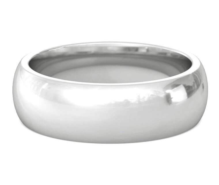 Silver Heavy, Domed, Comfort Fit Ring - 7mm
