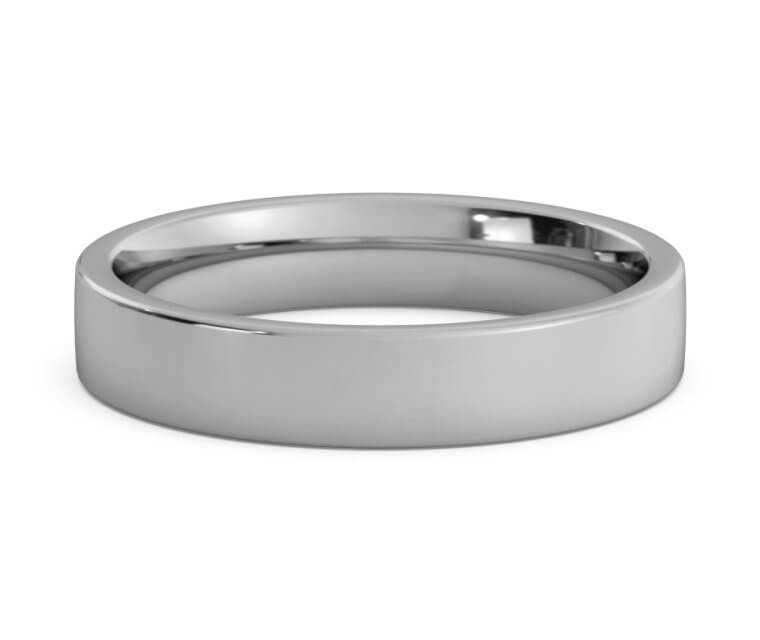 Titanium Flat, Comfort Fit Ring - 4mm