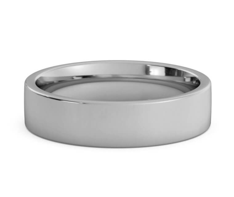 Titanium Flat, Comfort Fit Ring - 5mm