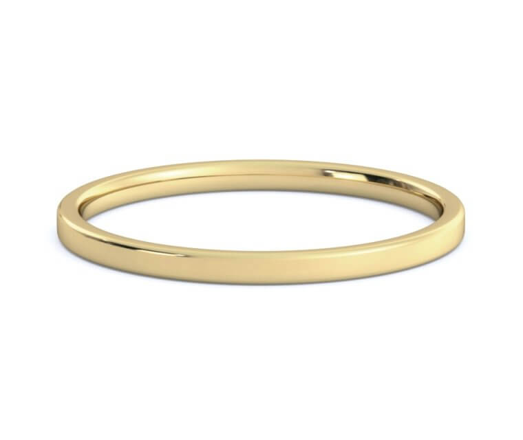 10K Yellow Gold Flat, Comfort Fit Ring - 1.5mm