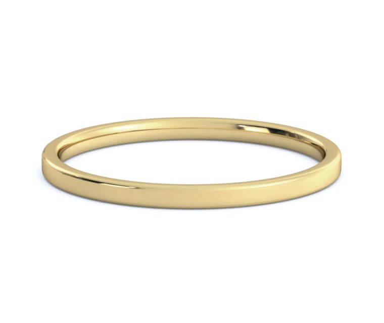 14K Yellow Flat, Comfort Fit Ring - 1.5mm